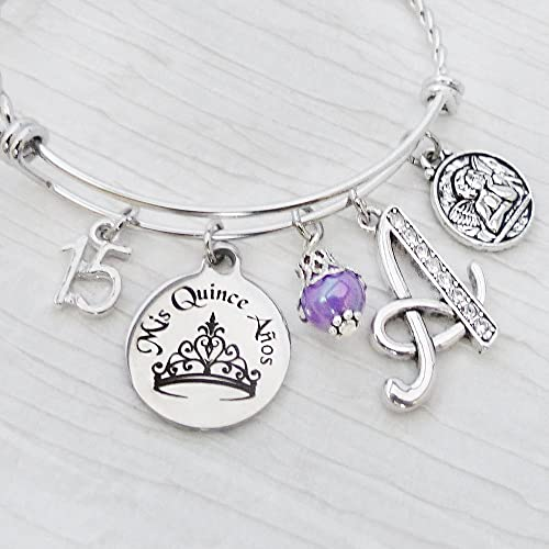 amazon com quinceanera gift 15th birthday gift letter bangle