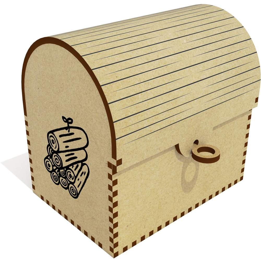 Azeeda 'Wood Pile' Treasure Chest / Jewellery Box (TC00025564)