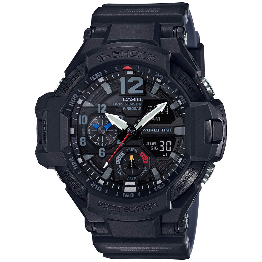 0888d083dce Buy Casio G-Shock Analog-Digital Black Dial Men s Watch - GA-1100-1A1DR  (G815) Online at Low Prices in India - Amazon.in