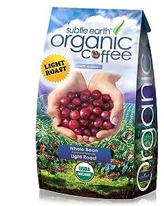 Cafe Don Pablo 5LB Subtle Earth Organic Gourmet Coffee - Light Roast - Whole Bean Coffee - USDA Certified Organic Arabica Coffee - (5 lb) Bag