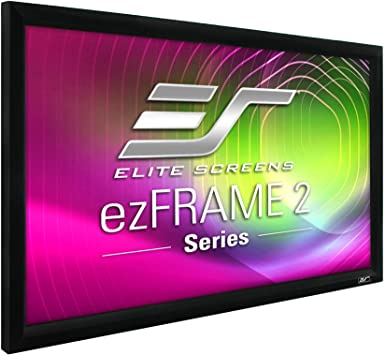 Amazon Com Elite Screens Ezframe 2 Series 106 Inch Diagonal 16 9 Fixed Frame Home Theater Projection Screen Model R106wh2 Home Audio Theater