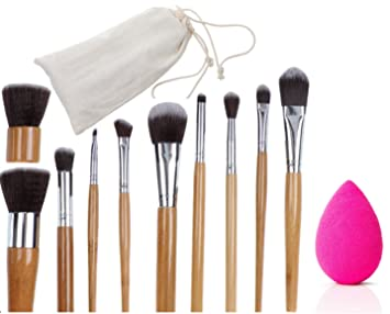 bamboo makeup brushes. promo inside - bamboo makeup brushes set 10 pc blender with cotton bag bamboo c
