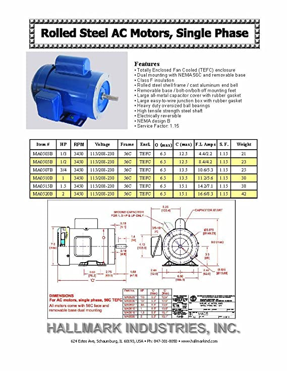 AC MOTOR, 1HP, 3450RPM, 1PH/60HZ/115/208-230V, 56C/TEFC, Cap start on general motors parts diagrams, 3 phase motor winding diagrams, scosche wiring harness diagrams, capacitor start motor diagrams, single phase capacitor motor diagrams, single phase 115v motor diagrams, 115 230 motor voltage change, house thermostat wiring diagrams, 2 hp marathon electric motors wiring diagrams, electric trailer brake wiring diagrams,