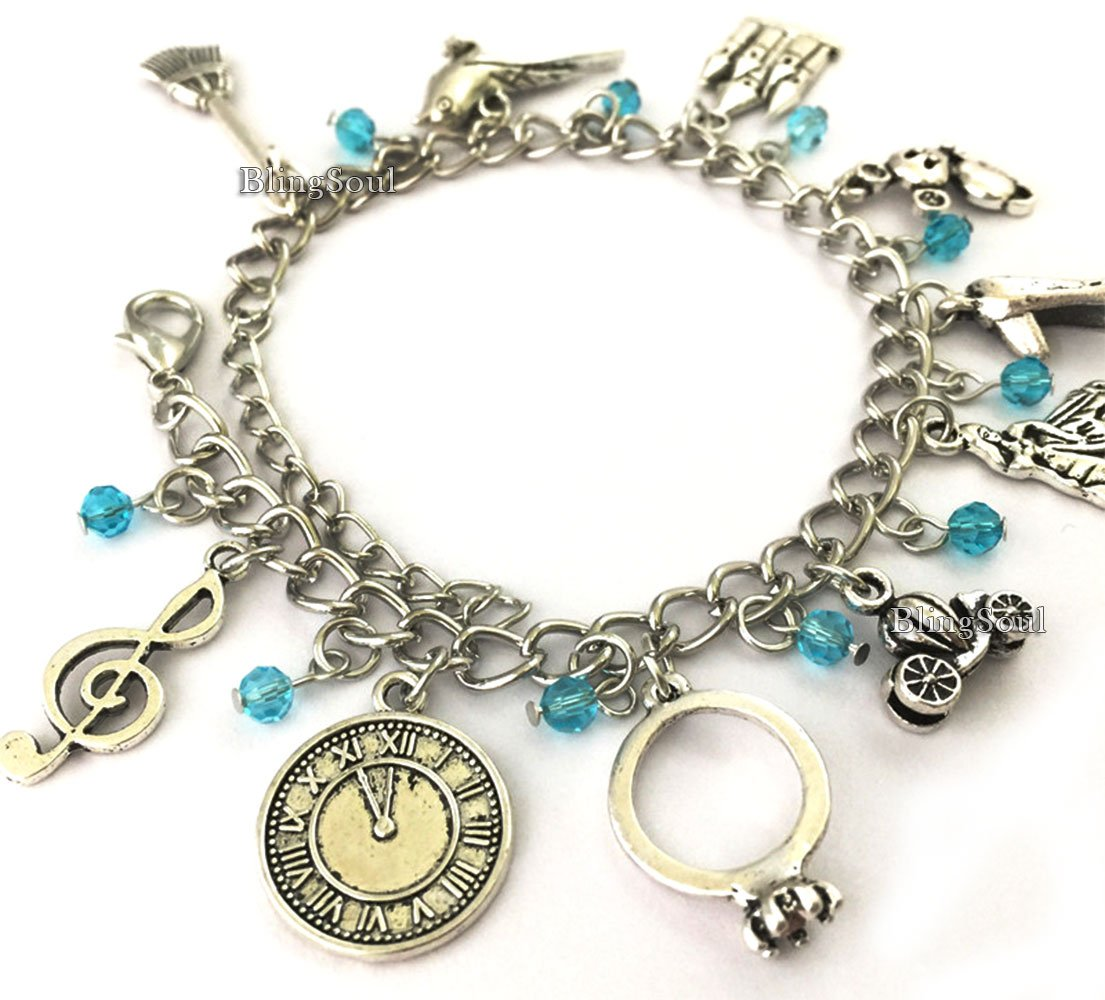 Disney Cinderella Charm Bracelet Jewelry - Cinderella Gifts for Women