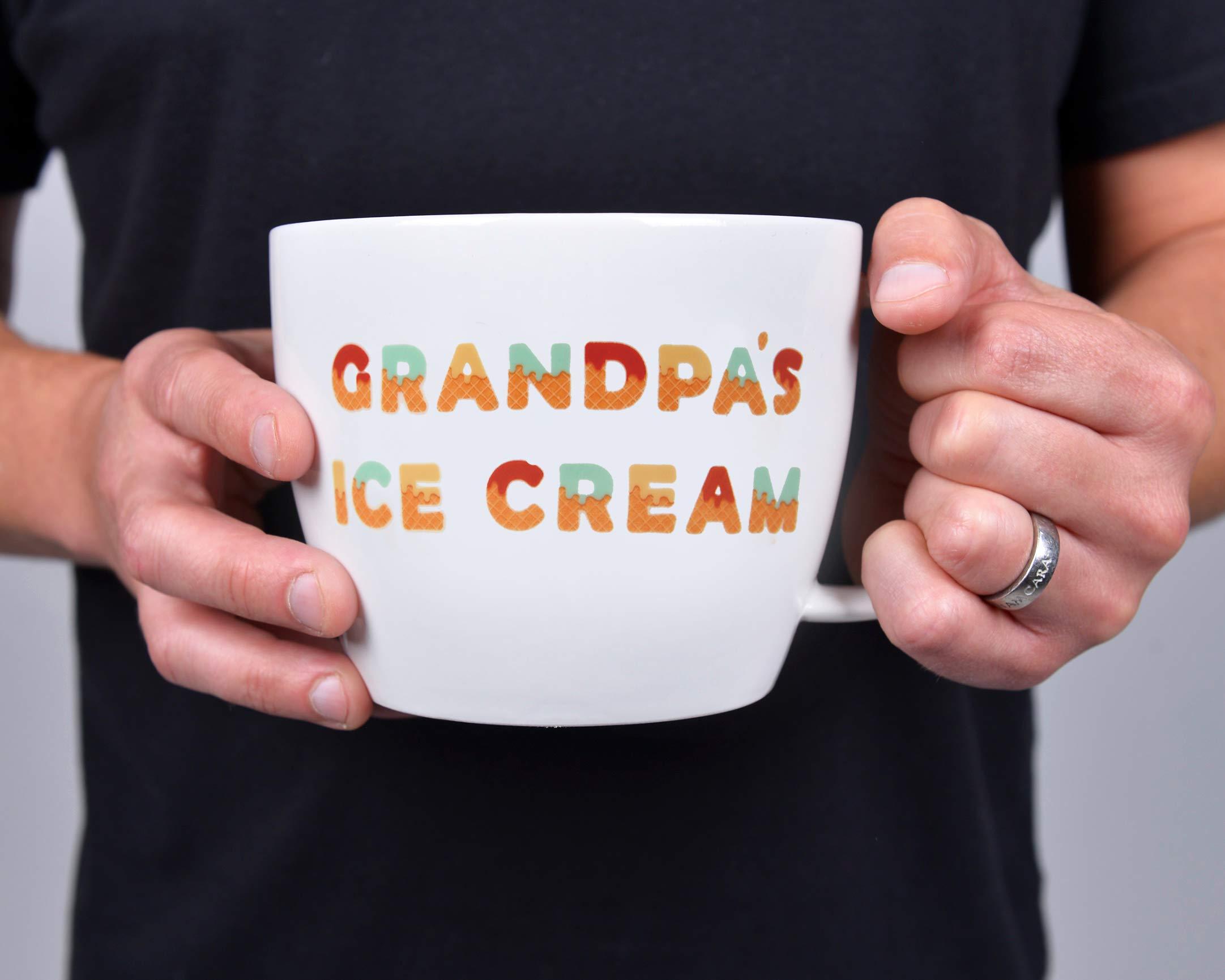 Josephine on Caffeine Gifts for Grandpa - Grandpa's Ice Cream Bowl and Engraved Spoon Grandpa's Ice Cream Shovel - Ideal or Birthday Gift by Josephine on Caffeine (Image #4)