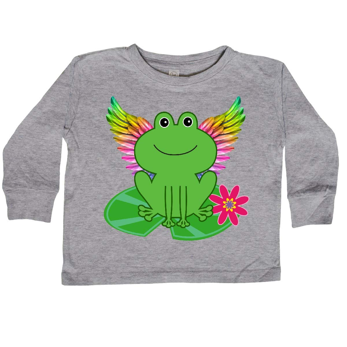 inktastic Frog Lily Pad Wings Toddler Long Sleeve T-Shirt
