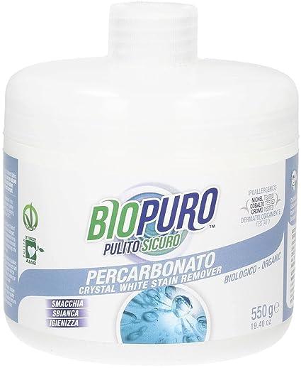 BIOPURO - Percarbonato orgánico - Blanqueamiento, quitamanchas y desinfección - AIAB, vegano, dermatológicamente