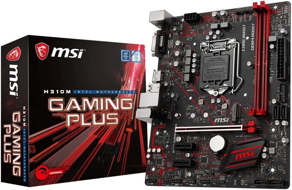 MSI Performance GAMING Intel Coffee Lake H310 LGA 1151 DDR4 Onboard Graphics Micro ATX Motherboard (H310M GAMING PLUS)