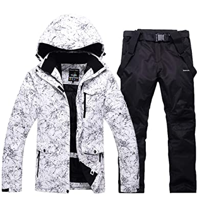 5049c412e7 RIUIYELE Fashion Women s High Waterproof Windproof Snowboard Colorful  Printed Ski Jacket and Pants