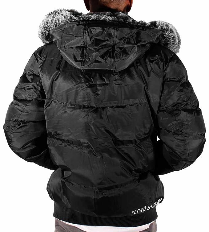 Ecko Mens Boys Reventon Short Parka Warm Winter Hooded ...