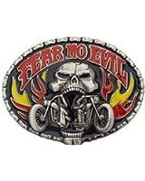 """Boucle de ceinture Skull Biker Noir / Boucle Femmes Hommes chopper moto feu / échange Boucle """"Fear No Evil II» de MyAccessoires"""