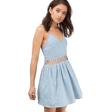 9ed0025c31f The Jetset Diaries Women s jasmina Mini Dress Powder Blue Dress at ...