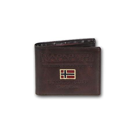 prezzo più basso a377b a8dec Napapijri portafoglio uomo pelle Cork N8I02 marrone