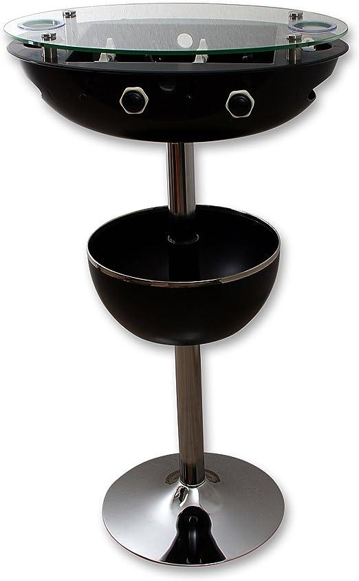 Bar Mesa con fútbol de futbolín, soporte para bebidas y carcasa, negro, 119 cm altura pie mesa fiesta futbolín: Amazon.es: Hogar