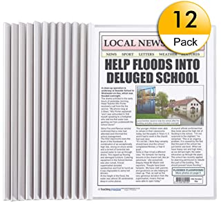 Clear Report Covers A4 Size Sliding Bar File Folder 11.4 x 8.5 inches Clear White Report Covers with Sliding Bar (12pack)
