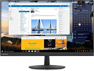 Lenovo L27q-30 27-inch QHD Monitor, LCD IPS, LED Backlit, 16:9, FreeSync, 75Hz, 4ms, Narrow Bezels, HDMI, DP, Tilt, VESA Mount, 65FCGCC1US, Raven Black