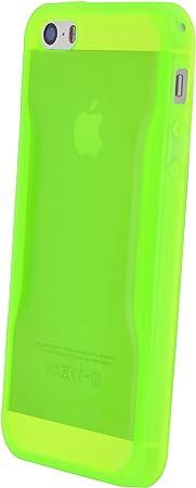 4-OK Fluor Coque pour Apple iPhone 5/5S Vert fluo translucide ...
