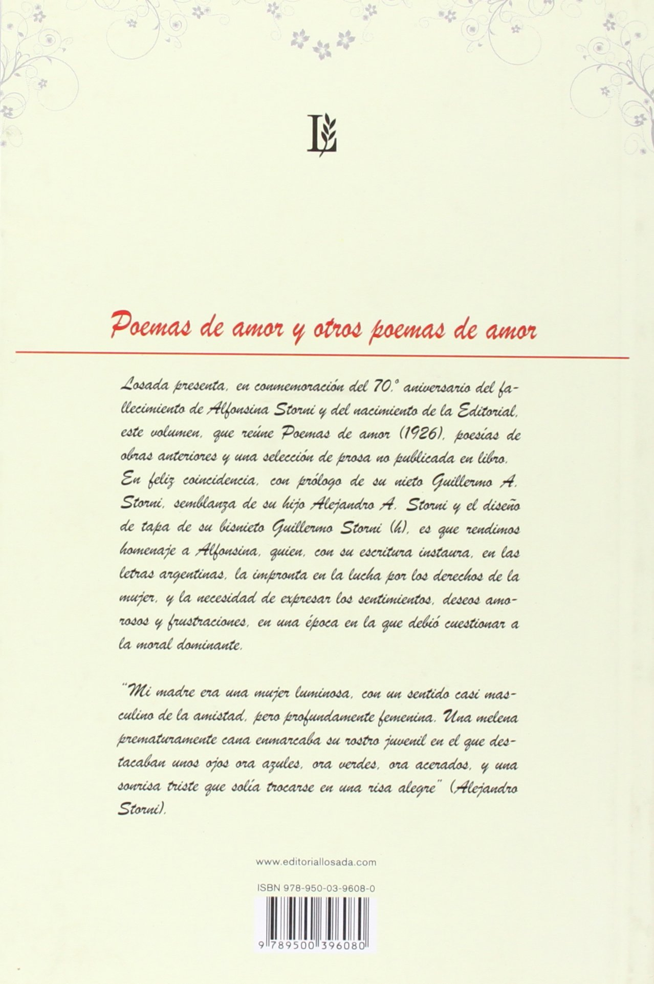 Poemas de amor y otros poemas de amor (Spanish Edition): Alfonsina Storni:  9789500396080: Amazon.com: Books