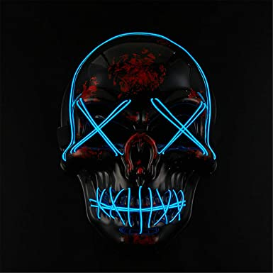 The Original LED Purge Mask Halloween Costume Light Up Cosplay