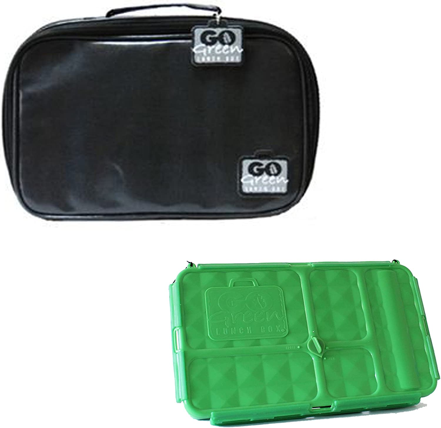 Go Green Lunch Box Set • 5 Compartment Leak-Proof Lunch Box ...