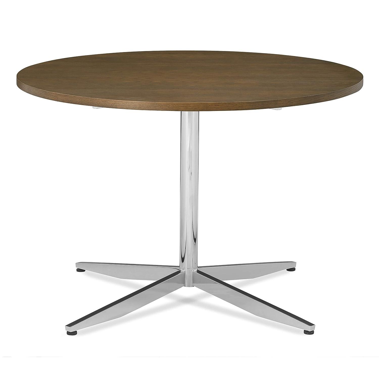 "POLY & BARK Geneva 43"" Dining Table in Chrome"