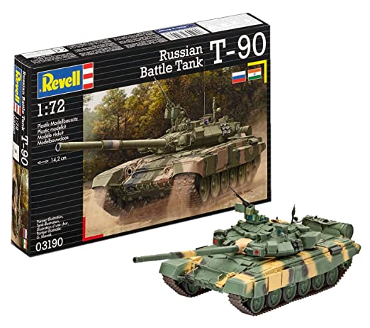 amazon com revell of germany russian battle tank t 90 plastic model