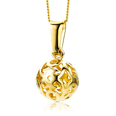 Miore Necklace - Pendant Women Chain Yellow Gold 9 Kt/375 Chain 45 cm R9fieGt