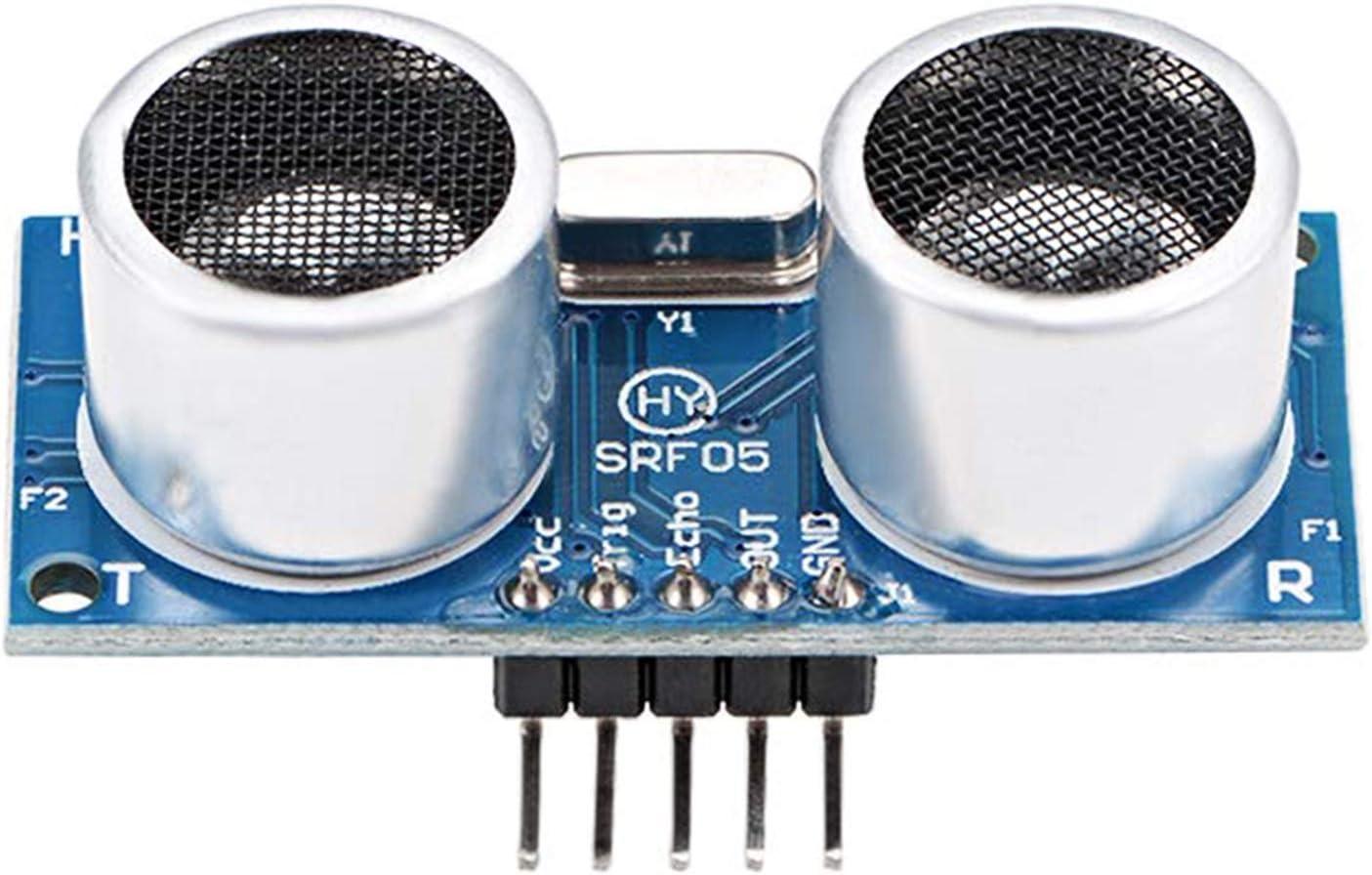 HAPPY LEMON Módulo inalámbrico Práctico Conveniente ultrasónico módulo HY-SRF05 Sensor de la Distancia for Arduino UNO Mega R3 Mega2560 Duemilanove Nano Robot Módulo de recepción: Amazon.es: Hogar