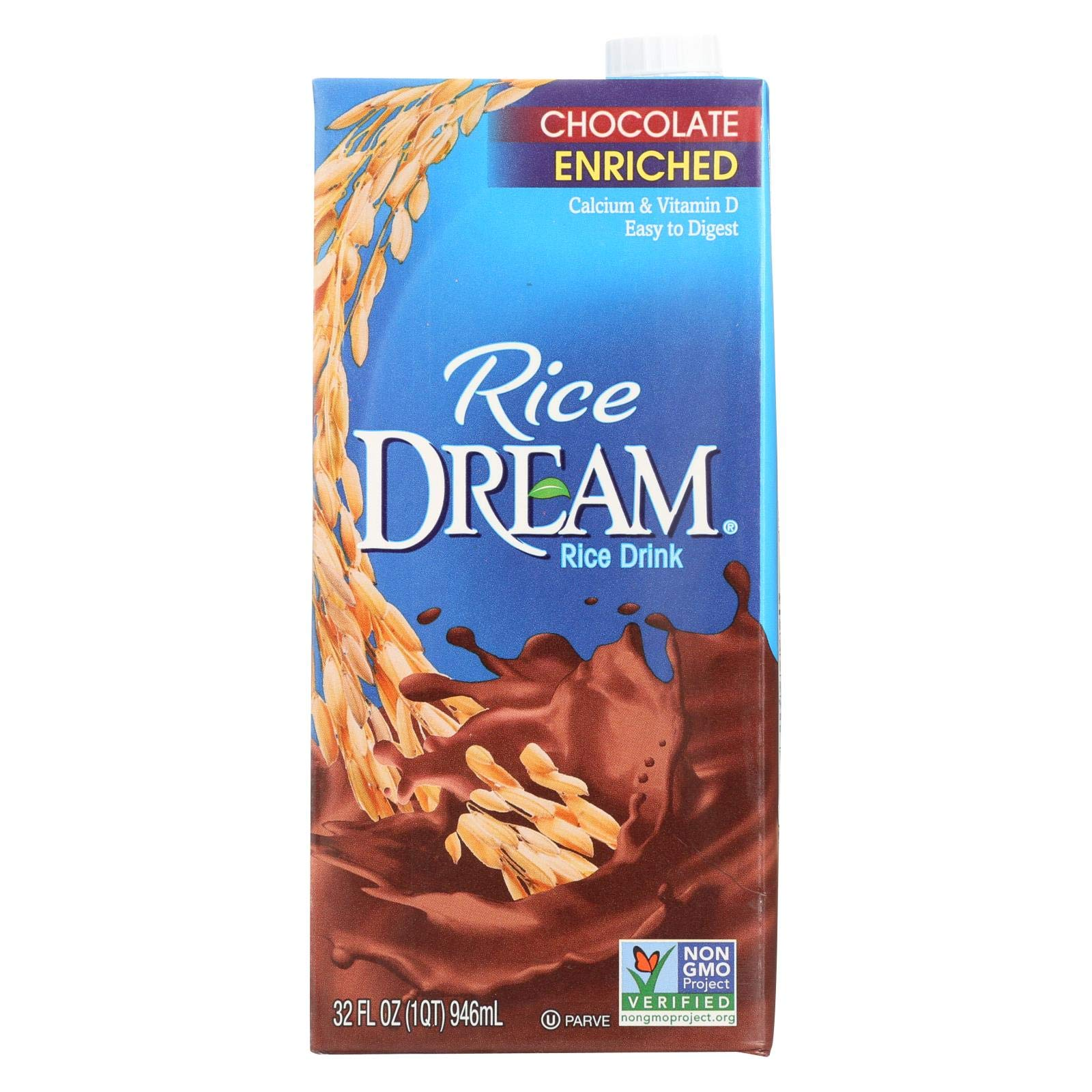 Imagine Foods Rice Dream Enriched Rice Drink - Chocolate - Case of 12 - 32 Fl oz. by Imagine Foods
