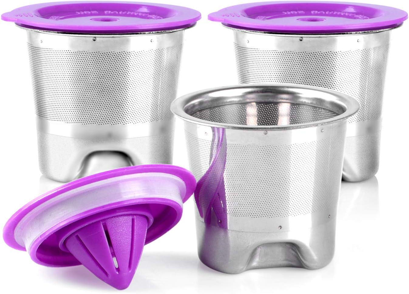 Reusable K Cups Keurig Coffee Filter for Keurig 2.0 & 1.0 Brewers, Stainless Steel Keurig Filter Universal Refillable Coffee Filter (3Pack)