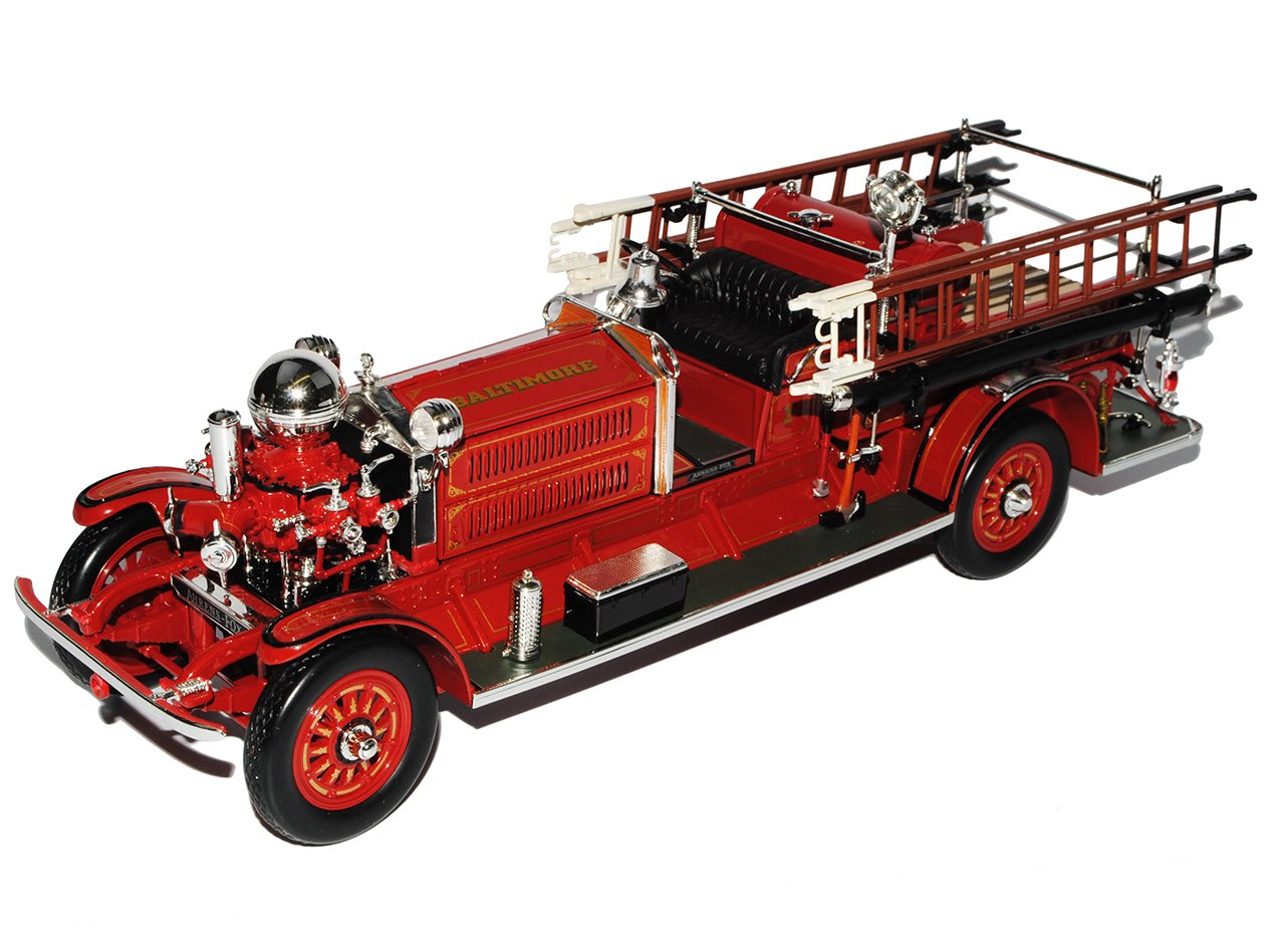 Ahrens Fox 1925 Rot Feuerwehr Signature 1/24 Yatming Modell Auto