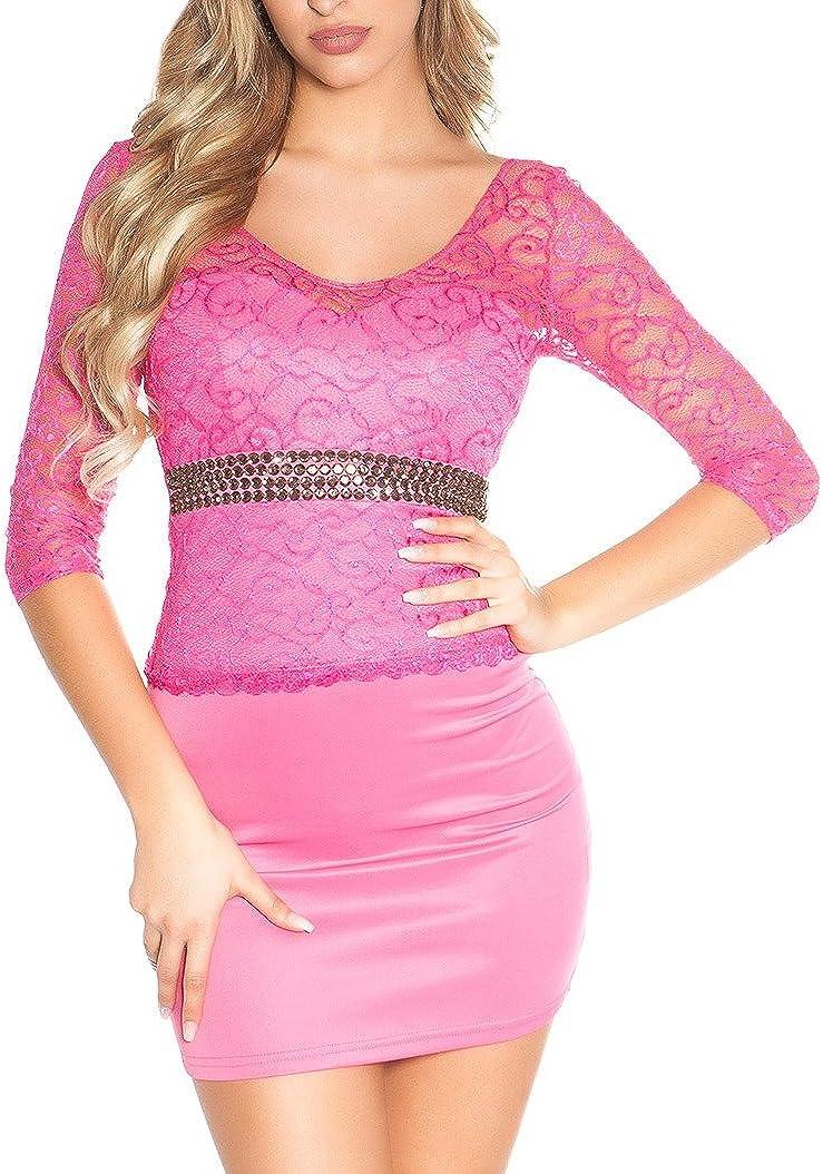 Damen Koucla Cocktail Kleid Party Etuikleid Minikleid Abendkleid Dress