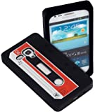 Yayago YUBA 2534-W Retro Kassette Tape Silikonhülle für Samsung Galaxy S3 mini i8190 schwarz