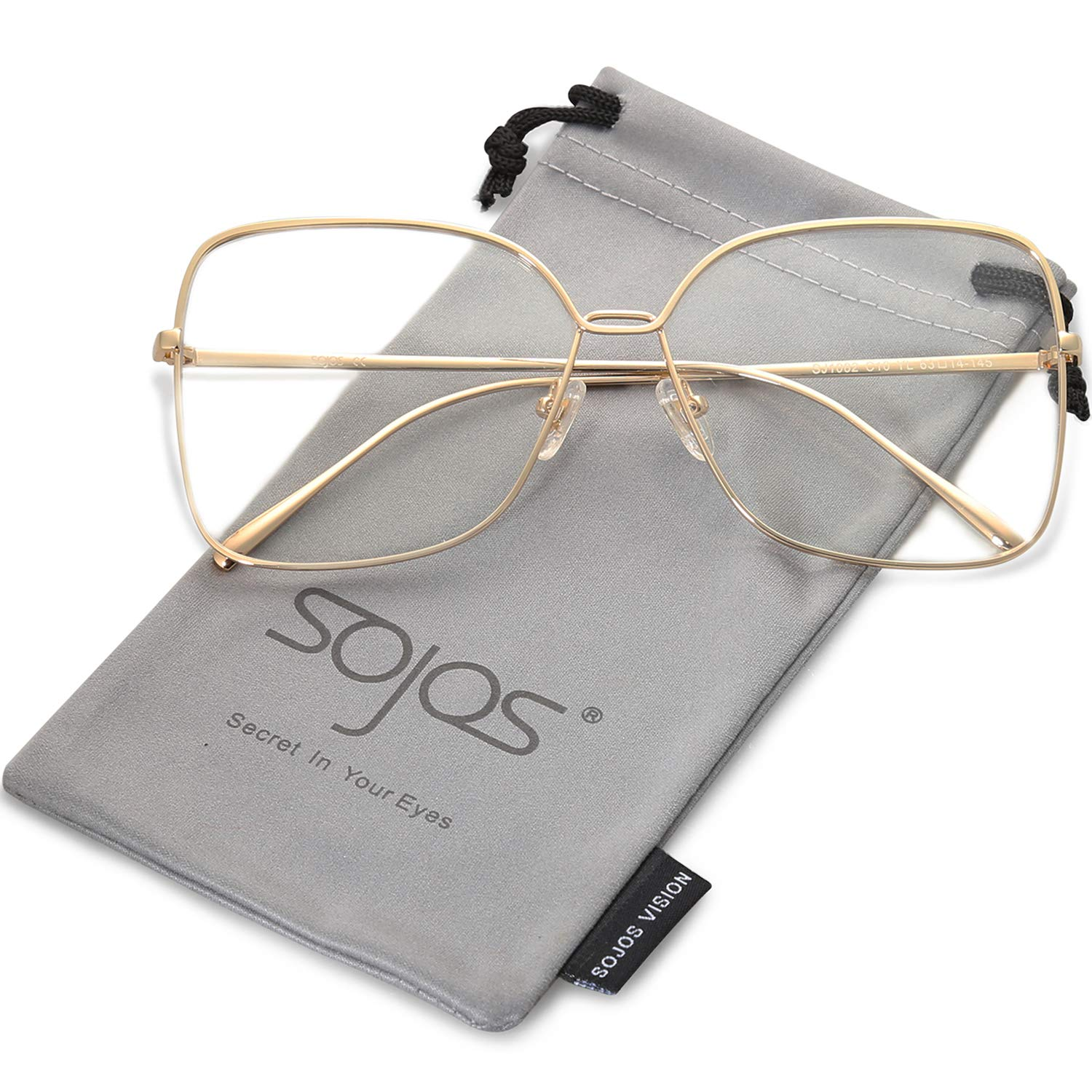 fd3a8cade0 SOJOS Fashion Oversized Square Sunglasses for Women Flat Mirrored Lens  SJ1082 product image
