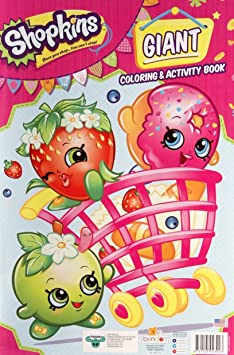 Amazoncom Shopkins Giant Coloring and Activity Book 11 x 16
