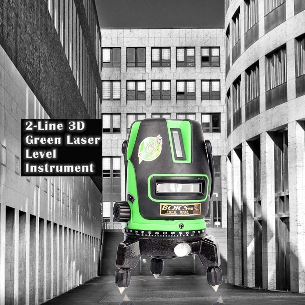 EU Vanpower 2 l/íneas 3D infrarrojo Green Beam Laser Level Self-Leveling Instruments