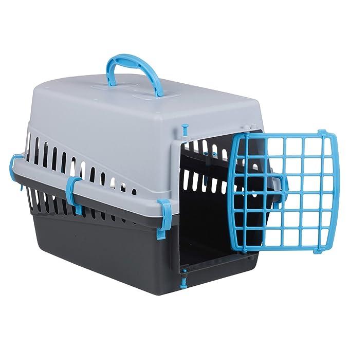 Cesta y jaula portátil de viaje para perro o gato con puerta negro y gris (verde): Amazon.es: Productos para mascotas