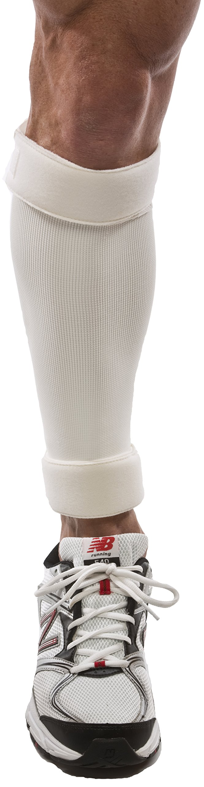 Cho-Pat Shin Splint - Compression Sleeve Delivers Support, Reduces Pain, and Enhances Recovery - Designed by Medical Professionals (White, Large 16''-20'')