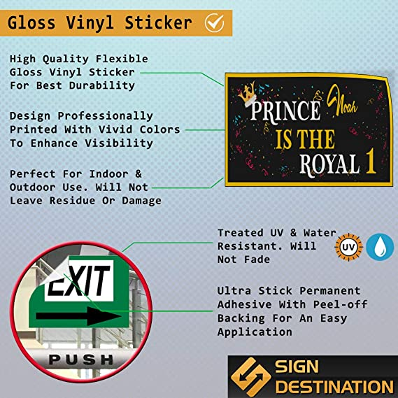 Custom Door Decals Vinyl Stickers Multiple Sizes Princess Name is The Royal Age Lifestyle Birthday Signs Outdoor Luggage /& Bumper Stickers for Cars Red 54X36Inches Set of 5