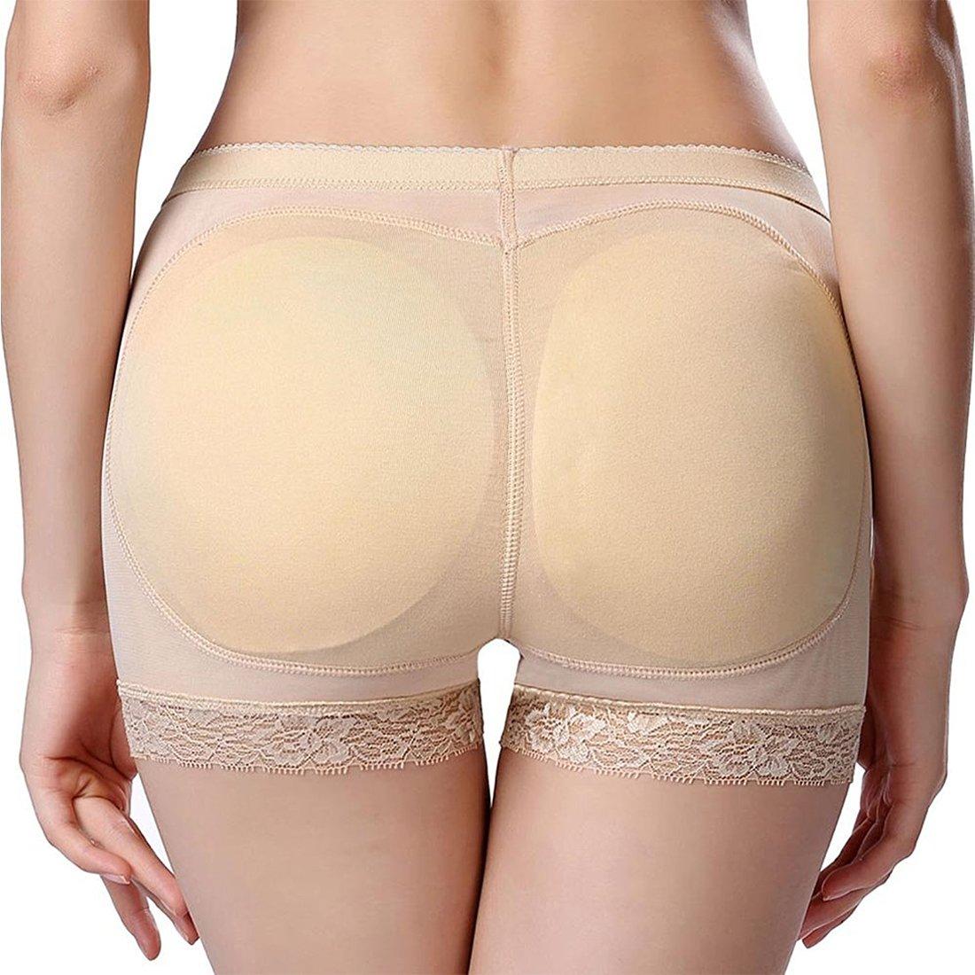 GWELL Frauen Push up Shapewear Unterhose Padded Nahtlos Figurformende Miederslip Sommer