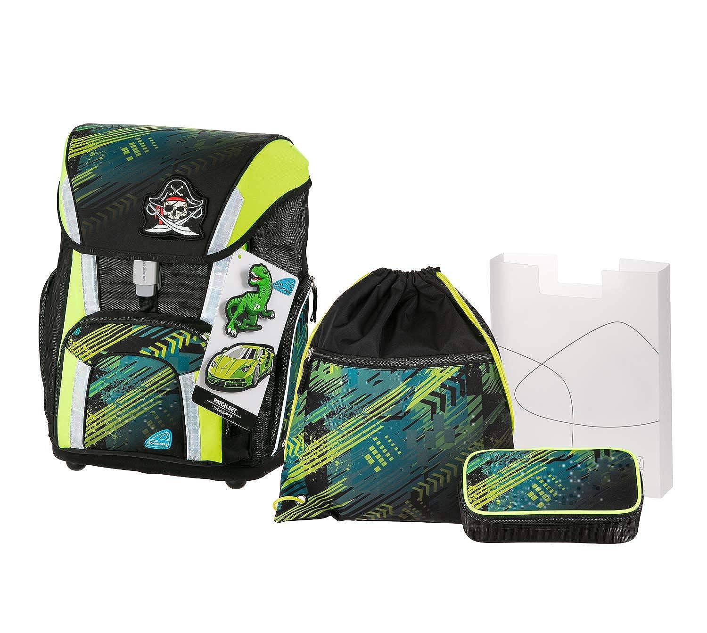 Schneiders Vienna Schoolbag Setスポーツバッグ、ゴミ箱、Heftbox、トラック、4個セットSchoolbag Set、41 cm、ブラック(ブラック)   B07KSYTMP1