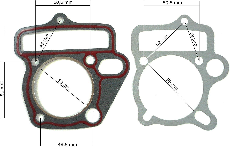 Hmparts Pit Bike Dirt Bike Atv Motordichtsatz Lifan 125 Ccm Für 52mm Kolben Auto
