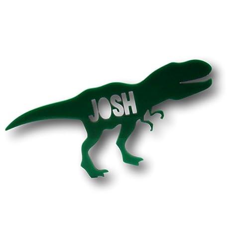 Dinosaurio decoración para tarta para acrílico personalizado nombre Dino dinosaurio de regalo fiesta decoración para tarta