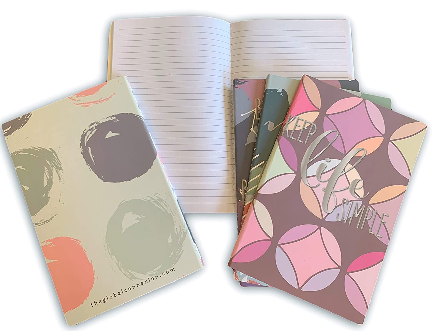 Assorted Patterns College Ruled 8x5 A5 Paper for Field Notes or Small Lined Cute Journals to Write in for Women Girls or Teens 6-Pack of Mini Softcover Pocket Notebooks//Journals//Notepads//Diary