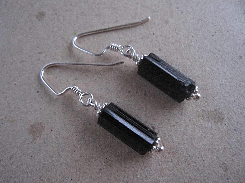 Raw Multi-Tourmaline 92.5 Sterling Grapes Earrings Natural Tourmaline Raw Beads Dangle Earrings for Women Girls