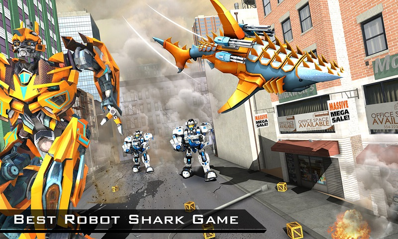 Amazon com: Transforming Robot Shark – Robot transformation