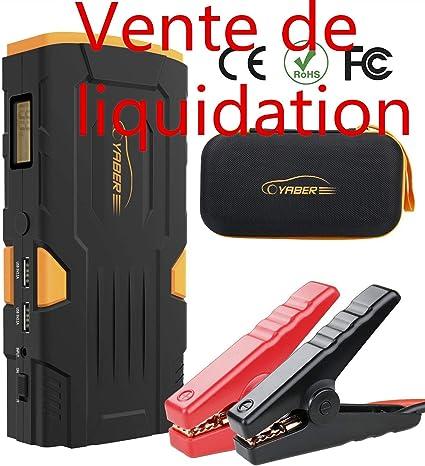 d/émarreur de batterie automatique au lithium 1500A Peak 20000mAh 12V d/émarreur de batterie de voiture portable lampe /à LED tout moteur diesel /à essence et 7,0L Booster Batterie chargeur rapide