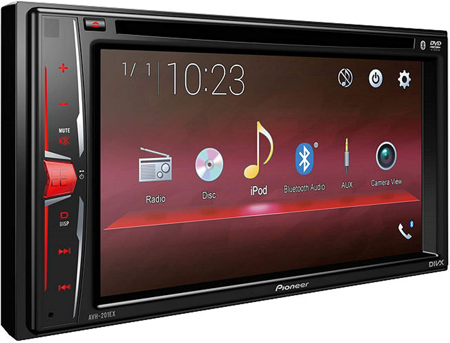 Pioneer AVH-210EX Double DIN Bluetooth In-Dash Car Stereo Receiver