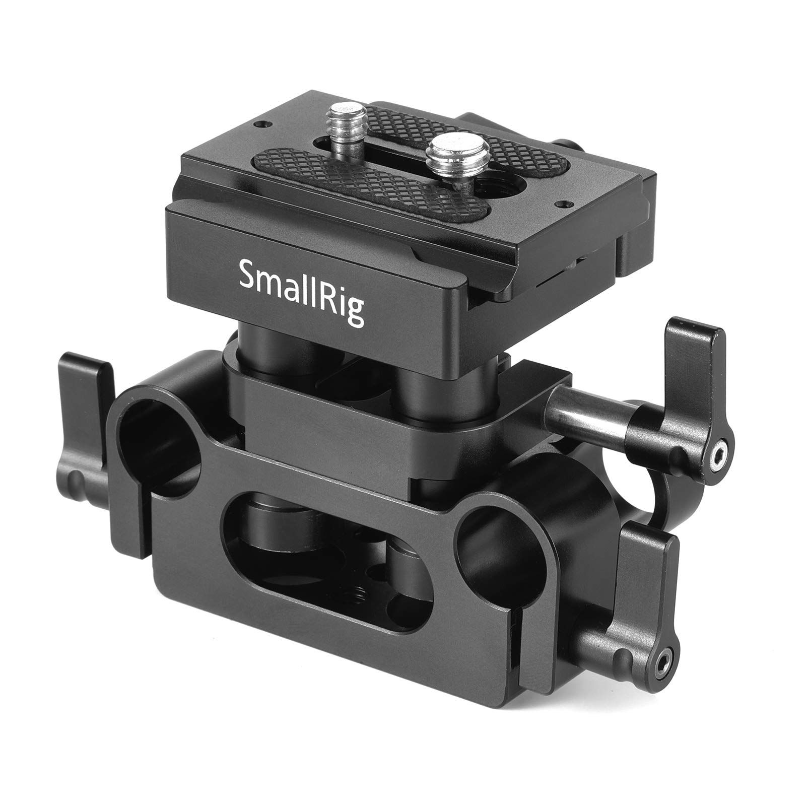 SMALLRIG Universal 15mm Rail Support System with 15mm Rod Clamp and Quick Release Plate - 2272 by SMALLRIG