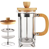12 oz French Press Coffee/Tea Maker by Sivaphe Espresso Press Milk Frother with 18/8 Stainless Steel Filter 0.35L High…